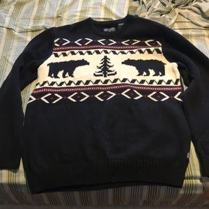 Chaps (ugly) Christmas Sweater size medium
